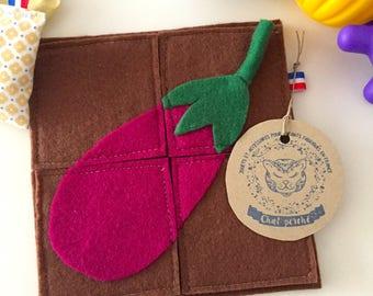 "Felt puzzle ""my little Garden: Eggplant"""