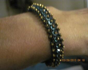 Timeless Elegance Bead and Swarvoski Bracelet...OOAK..1415h
