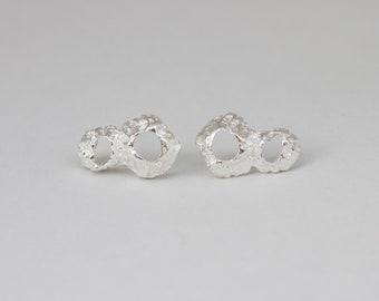 Small Sterling Silver Earrings, Seashells Jewelry, Natural Silver Stud Earrings, Simple Silver Earrings Studs, Nature Silver Studs, 925 Post
