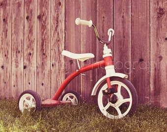 Trike Photography - Children's Art - Bike Print - Cute Photography - Bicycle Photo - Tricycle Print - Cute Print - Child Decor - Baby Photo
