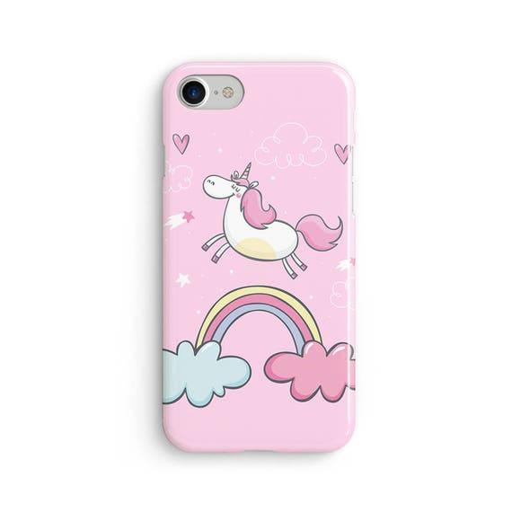 Unicorn rainbow cloud hearts  iPhone X case - iPhone 8 case - Samsung Galaxy S8 case - iPhone 7 case - Tough case 1P055