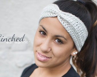 Cinched Ear Warmer Headband Crochet Pattern PDF (Crochet Pattern by Little Monkeys Crochet) Cowl Headband Pattern Ear Warmer