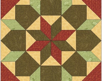 stars and lilies paper piece template quilting block pattern