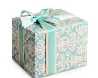 "10 sheets wrapping paper for Gift Wrap : Blue Vintage, Holidays wrap, Christmas wrap, gift wrap  23""X16.5"" (59 cm X 42 cm)"