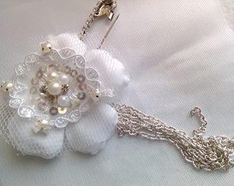 PIN catcher train for wedding dress