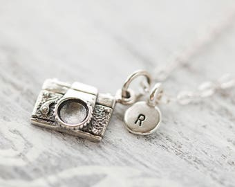 Sterling Silver Camera Charm Necklace,  Tiny Camera Necklace, Gift for Photographer, Traveler Jewelry, Camera Jewelry,Photography Gift
