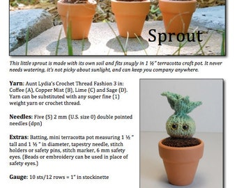 Knitting Pattern - Potted Sprout Amigurumi - PDF Download