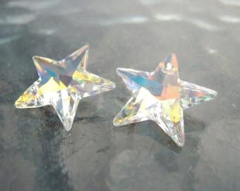 1 Large Swarovski Vitrail Star Pendant, top drilled crystal, Swarovski star necklace