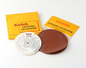 Vintage Kodak Exposure Calculator for Still and Still Cameras