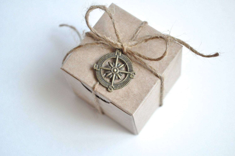 Wedding favors nautical wedding favor boxes brown kraft