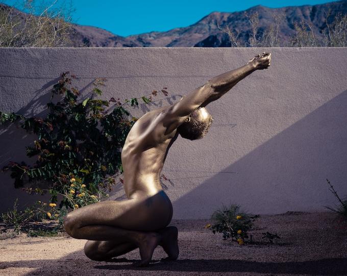 Rapture - 24x30 fine art print, nude male model photograph