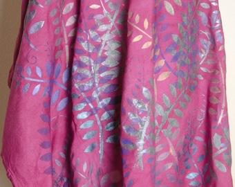 Garden Ferns natural dressy dyed handmade ladies art womens dress India printed Top Shirt yoga Tunic plus size 2x xxl xxxl 3x 4x poncho