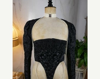 ON SALE 1890 Antique Bodice, Victorian Bodice, antique dress, gown, Victorian Gown