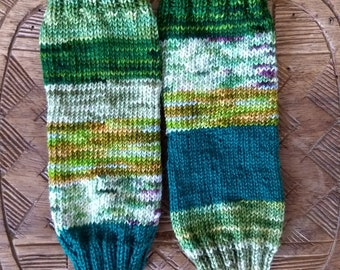 Sock Yarn Fingerless Gloves