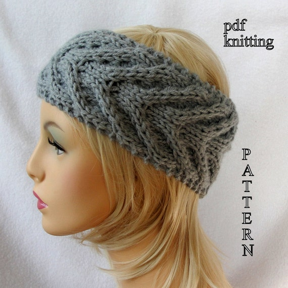 Knit Ear Warmer Pattern Knit Headband Pattern Knit Staghorn Ear