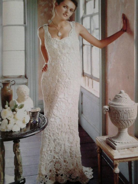 Vintage Crochet Wedding Dress Pattern Pdf No 0002