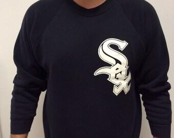 Vintage White Sox Black Sweatshirt