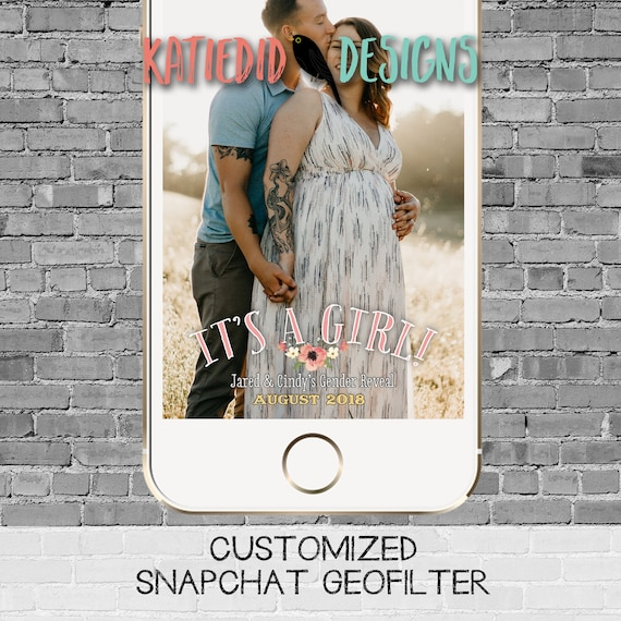snapchat filter gender reveal adventure awaits hot air balloons oh the places girl travel theme baby shower twins geofilter | 1455 Katiedid