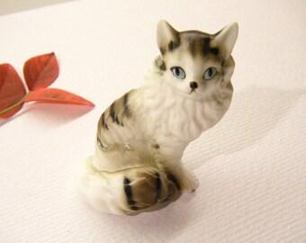 "Vintage Porcelain CAT Figurine, 2 1/8"", ANIMAL CHARITY Donation"