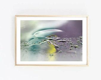 Art Print Abstract rain photography - Home Decor - Rain effects - Art print - photography art reflection in the rain