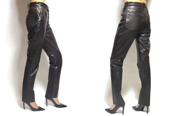 80's Leather Slim Pants