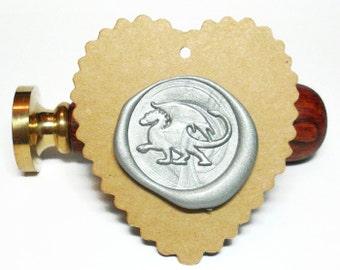 FLYING DINOSAUR DRAGON mythical animal Wax Seal Stamp or Wax Stick Box Set (style#C)