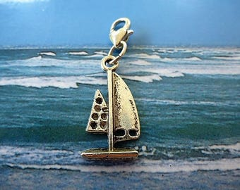 charm charm silver windsurfing from Tibet with heart lobster clasp