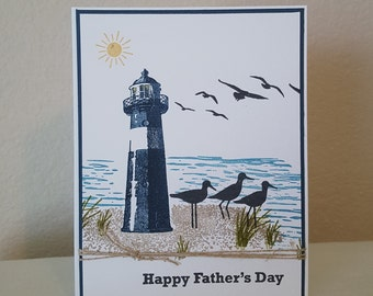By the Sea Father's Day Greeting Card