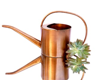 Vintage Solid Copper Watering Can || Rustic Modern Functional Garden Décor