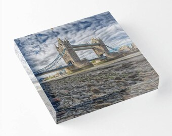 Tower Bridge - Acrylic Block - BalazsRomsics 4 x4 / 6 x 6 Home decor