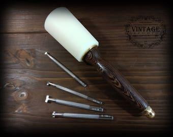 Leathercraft Maul, Hammer Leather Tools & Leatherwork 17oz 490g Mallet
