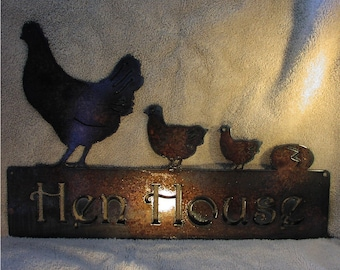 Hen House- Metal Garden or Wall Art