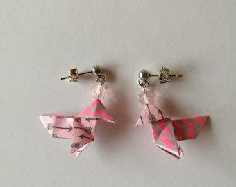 short pink origami
