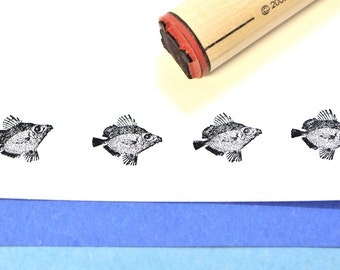 Fancy Fins Fish Rubber Stamp
