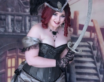 Pirate Costume   Lady Buccaneer   Plus Size Steampunk Costume, Corset Dress, Pirate Cosplay, Sexy Costume, Plus Size Pirate Costume