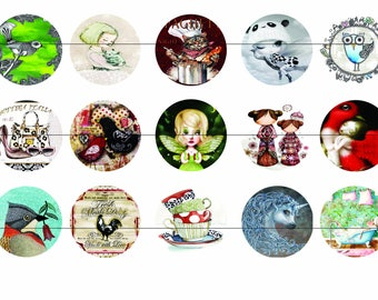 Digital images for cabochon Mix22-50