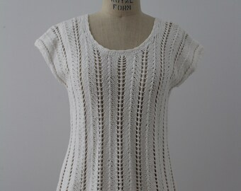 Crocheted top pure white