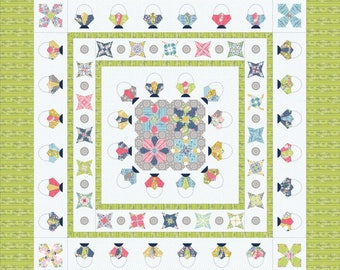 Daisy Baskets Quilt kit by Sue Daley