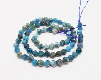 Star Cut Apatite gemstone beads