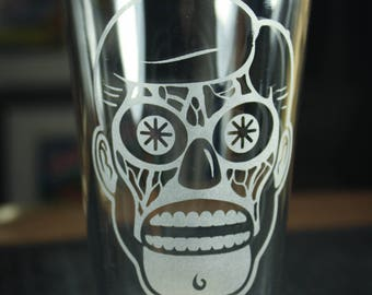 They Live - Handmade Beer Glass - Pint Glass - Gearbox Designs Original