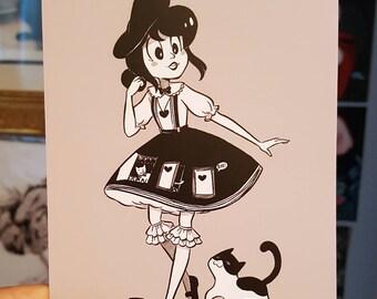 Cat Door and Cat Print