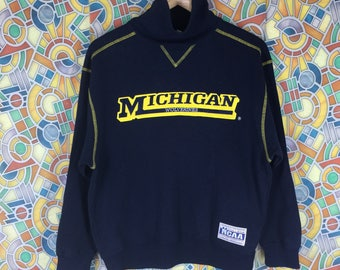 rare! vintage michigan wolverines big logo sweatshirt