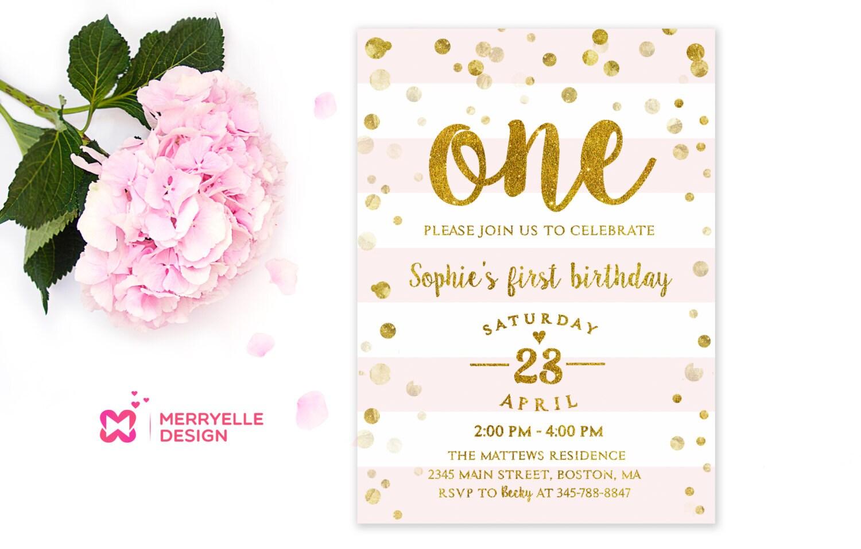 First birthday invitation girl 1st Birthday Girls party