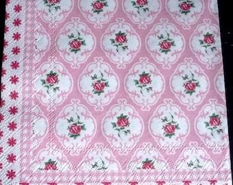 2 pink paper towel