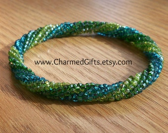 Roll On Bracelet - Green, Lime, Blue