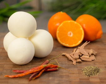 Sweet Orange and Chili Pepper Handcrafted Naked Bath Bomb