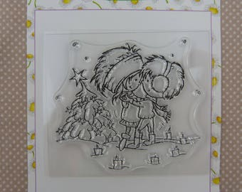 Clear, children in Christmas stamp