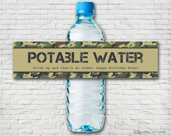 Forward March Water Bottle Labels
