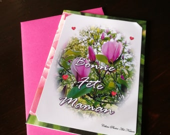 Card double 'Rose happiness' happy birthday MOM 10x15cm
