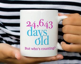Personalized Birthday Mug, 60th Birthday Gift for Woman, 40th Birthday Gift for Woman, 30th Birthday, 50th Birthday Gift for Woman